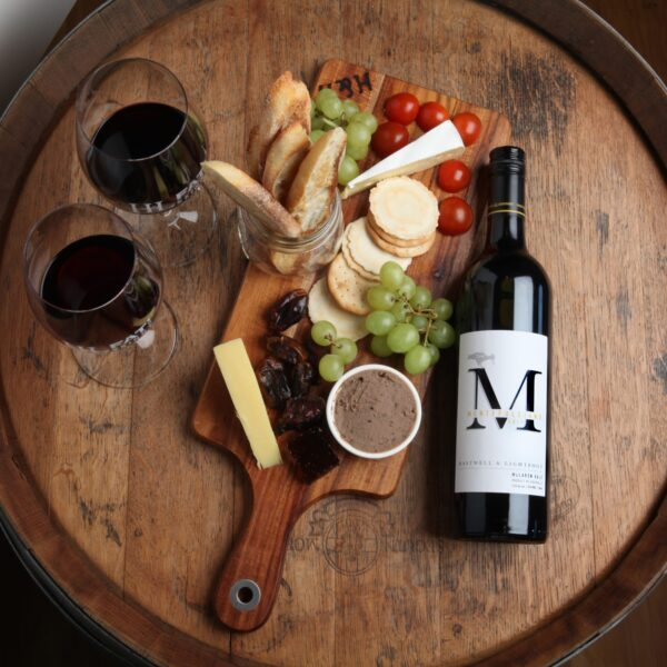 Hastwell and Lightfoot 2017 Montepulciano WIne and best platter