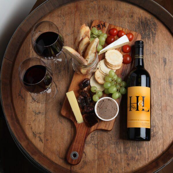 HandL 2017 Blended Shiraz Wine Bottle and mclaren vales best platter